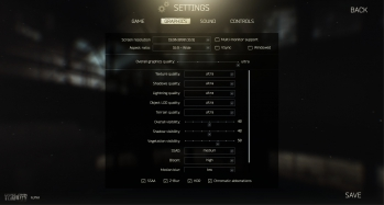 Escape from Tarkov EFT-Alpha Interface - Settings - Graphics