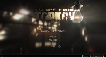 Escape from Tarkov EFT-Alpha Interface - Main Menu