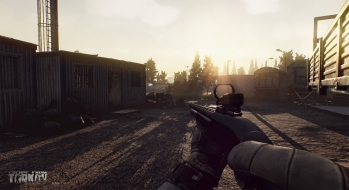 Escape from Tarkov EFT-Alpha Vicino all'ufficio a Customs 19