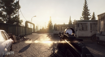 Escape from Tarkov EFT-Alpha Vicino all'ufficio a Customs 17
