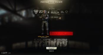 Escape from Tarkov EFT-Alpha Interface - Raid 3