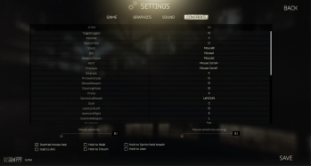 Escape from Tarkov EFT-Alpha Interface - Settings - Controls