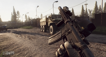 Escape from Tarkov EFT-Alpha Vicino all'ufficio a Customs 22