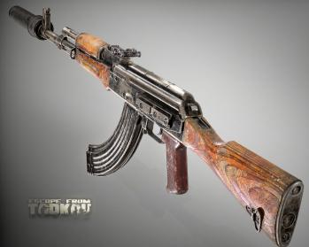 Escape from Tarkov AKM, AKMS, VPO-209, VPO-136 rifles plus AKMNS, AKMNSLP variants, and modding parts - 5