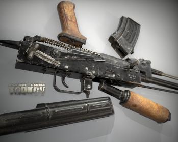 Escape from Tarkov AKM, AKMS, VPO-209, VPO-136 rifles plus AKMNS, AKMNSLP variants, and modding parts - 22