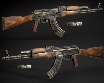 Escape from Tarkov AKM, AKMS, VPO-209, VPO-136 rifles plus AKMNS, AKMNSLP variants, and modding parts - 1