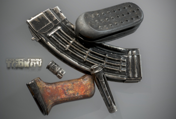 Escape from Tarkov AKM, AKMS, VPO-209, VPO-136 rifles plus AKMNS, AKMNSLP variants, and modding parts - 10