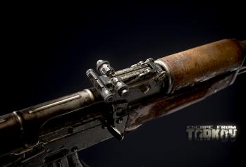 Escape from Tarkov AKM, AKMS, VPO-209, VPO-136 rifles plus AKMNS, AKMNSLP variants, and modding parts - 7