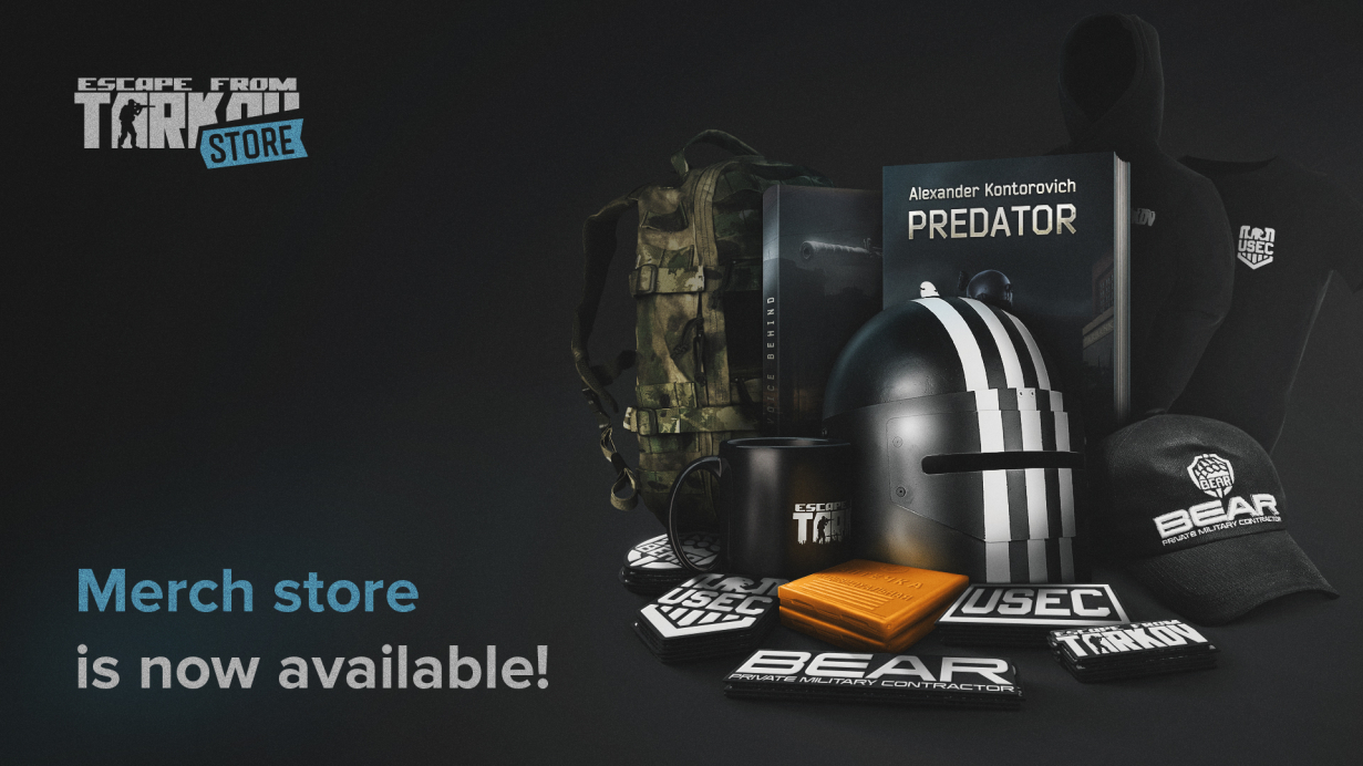 The official Escape from Tarkov merch store is open!