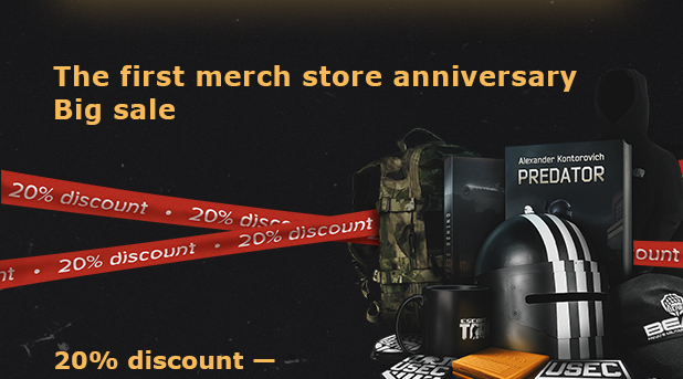 The first merch store anniversary. Big sale.