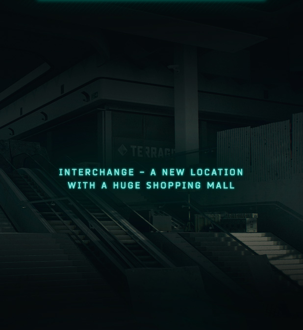 Interchange - a new location with a huge shopping mall